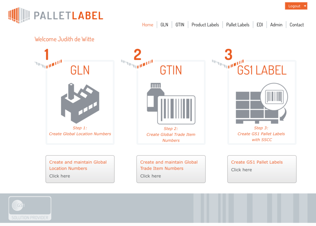 SSCC Label EDI Palletlabel